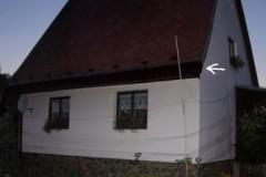 Dům Balintových, kde sídlí kolonie netopýrů.