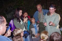 Ukázka netopýrů v rámci Netopýří noci na Šelmberku.
