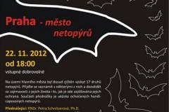 plakát přednáška Praha - město netopýrů.
