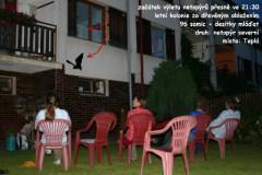 Pozorování výletu letní kolonie netopýra severního u Divišových.